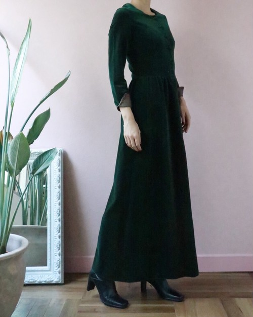 NINA RICCI 70's full-length dress