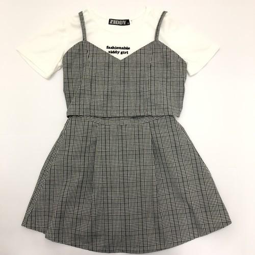ZIDDY ジディー  Tシャツ+ビスチェ&スカート3点セット 1222-330149