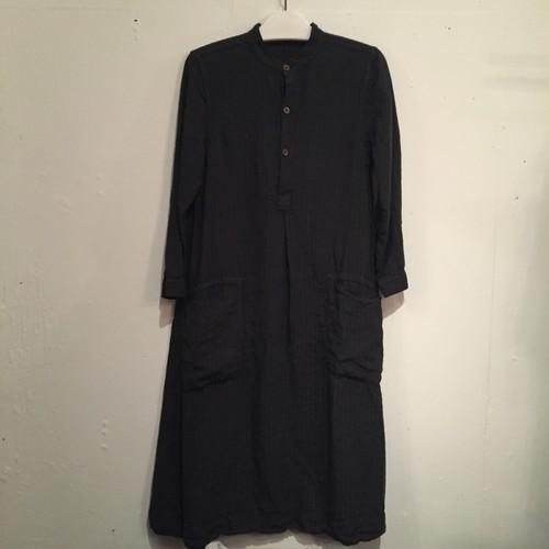 【Chez Vidalenc】Dress shirt N.C. linen strippy