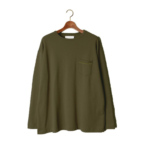 L/S Loose Pocket Tee -olive <LSD-AI3T6>