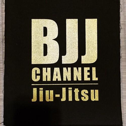 BJJチャンネルパッチ カラー黒地に金