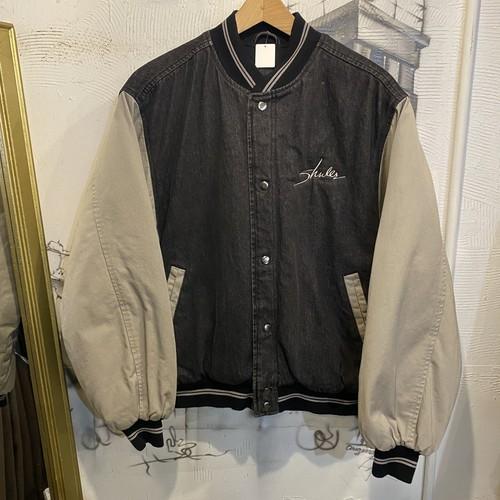 denim stadium jacket