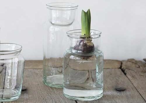 リュースガラス フラワーベース バルブボトル(L)