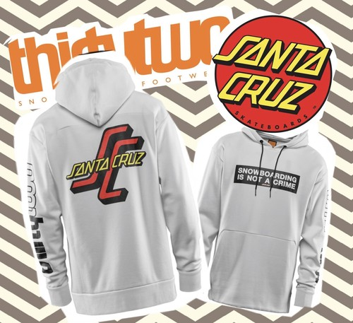 【THIRTY TWO】thirty two×SANTA CRUZ コラボモデル SANTA CRUZ HOODIE(WHITE)