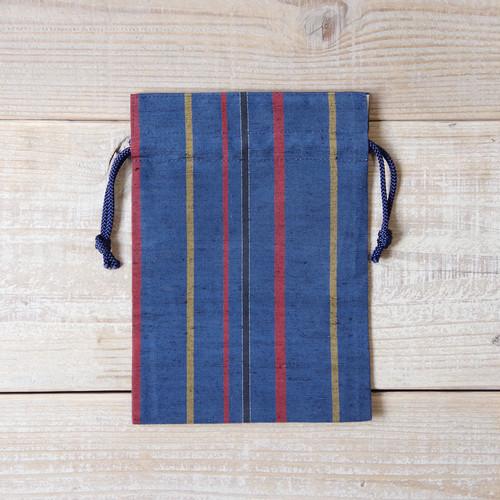 上田紬(つむぎ) 巾着袋 絹100% 長野県産【04】