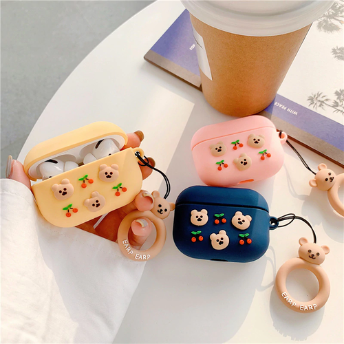 Cherry bear luxury airpods1/2 Pro case
