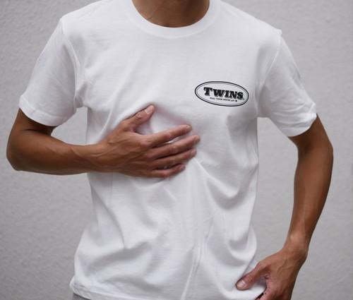 TWINS Cotton T-shirt 背中プリント