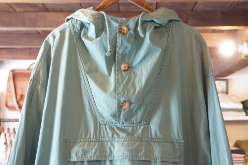 90's old GAP green cotton pull-over Jacket