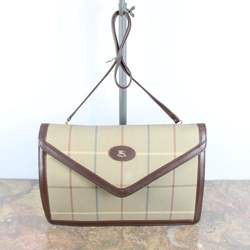 .Burberrys LOGO CHECK PATTERNED SHOULDER BAG MADE IN ENGLAND/バーバリーズチェック柄ショルダーバッグ 2000000044255