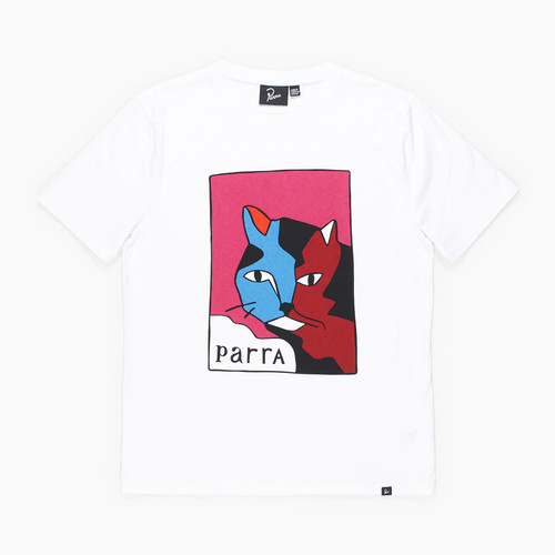 by Parra - t-shirt earl the cat (White)