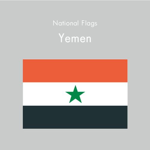 国旗ステッカー イエメン