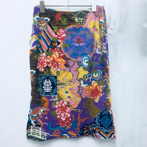 china pattern mesh skirt