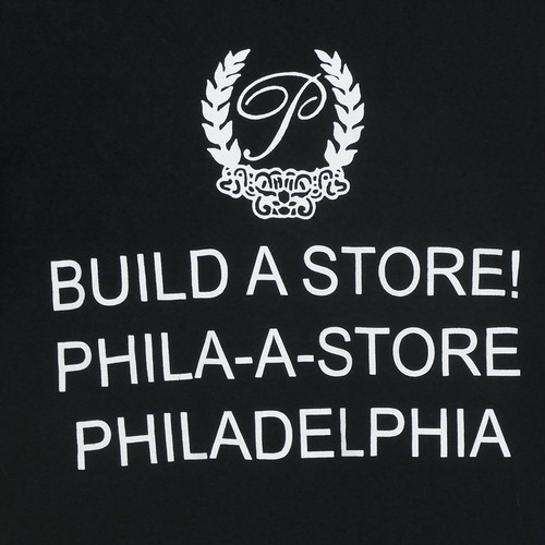 USA古着プリントTシャツL黒BUILD A STORE!片面 綿100極上