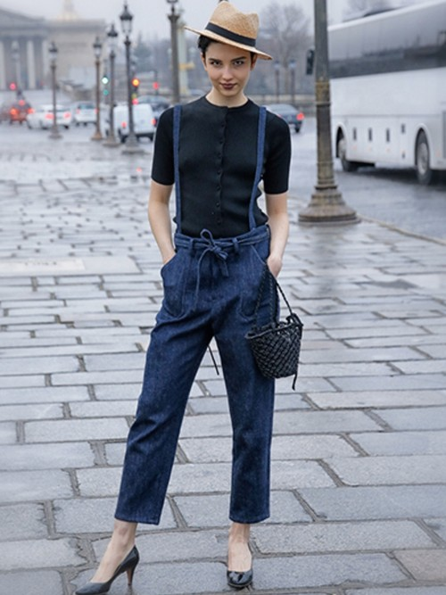 Bilitis dix-sept ans     Denim Suspender Pants 2019SS
