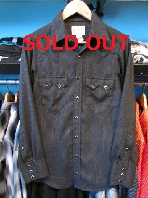 L/Sウエスタンシャツ ブラック Rockmount