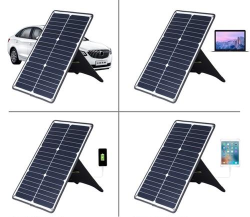 連結可能 USBポート搭載 20W ソーラーパネル Koryo-SOL-001