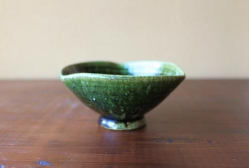 織部三方変型鉢