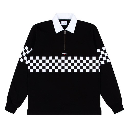 Checkered Zip Rugby(Black)
