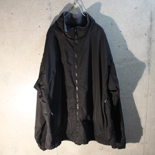 Nylon High Neck Zip Up Blouson
