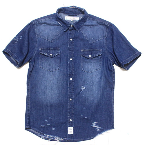 DAMAGE DENIM WESTERN SHIRT