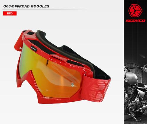G08 オフロードゴーグル RED