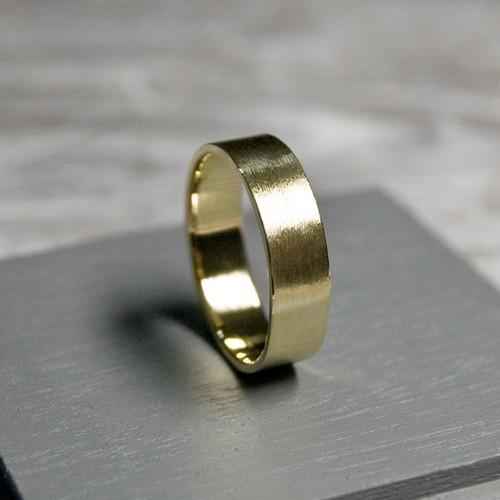 ブラスフラットリング 5.0mm幅 マット 3号~27号|WKS FLAT RING 5.0 bs matte|BRASS 真鍮 指輪 FA-215