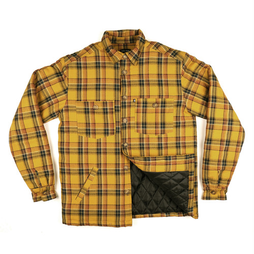 PASS PORT / LATE QUILTED FLANNEL JACKET -YELLOW-
