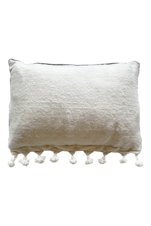petit pompom cushion cover