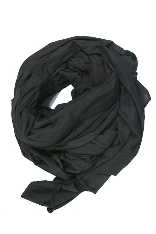 【T.A.S / ティーエーエス】Layon Wool Silk Big Stole (BLK)