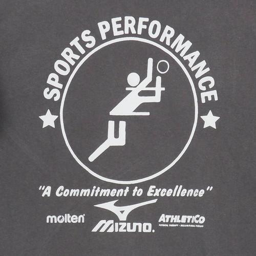 USA古着プリントTシャツXLグレー広告入りMoltenミズノ両面フォードの格言 綿100ダメージ