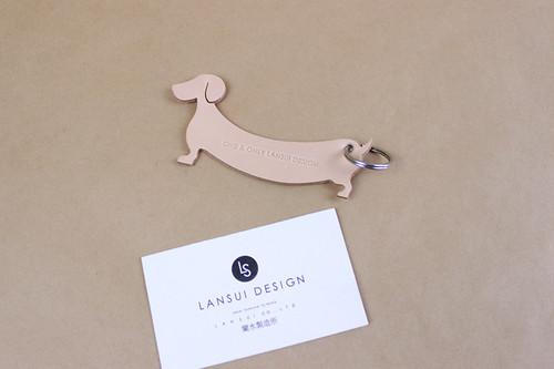 JAPAN LANSUI DESIGN 名入れ対応 ヌメ革手作り キーホルダー3個入り 品番8ID3JID42