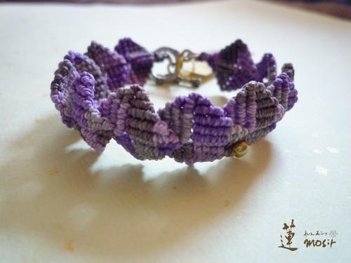 マクラメブレスレット*紫
