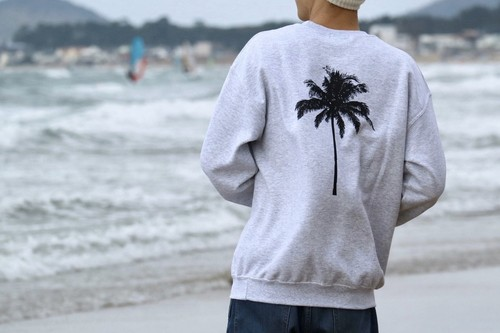 【1/15 21:00 販売開始】Palm tree SWEAT(gray)
