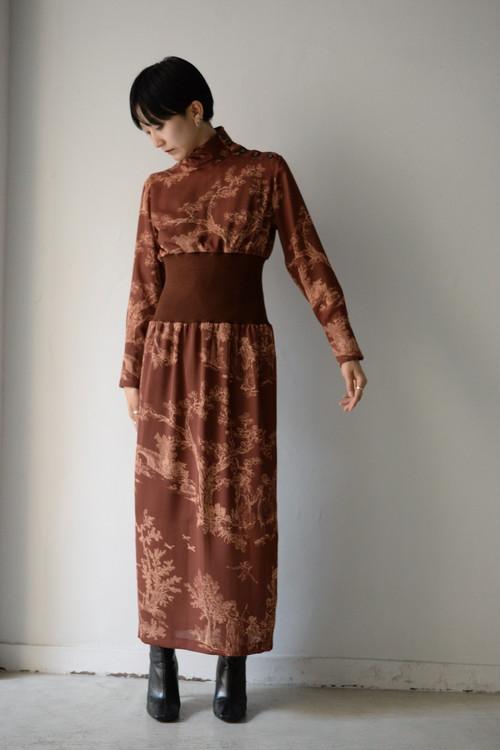 SATORU SASAKI / waist rib dress (brown)
