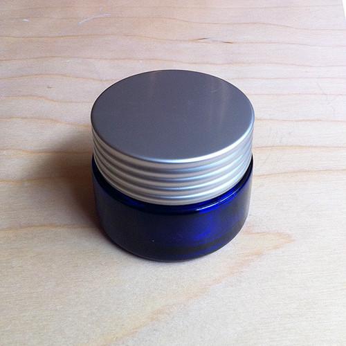広口ブルーガラスジャー(中)30ml