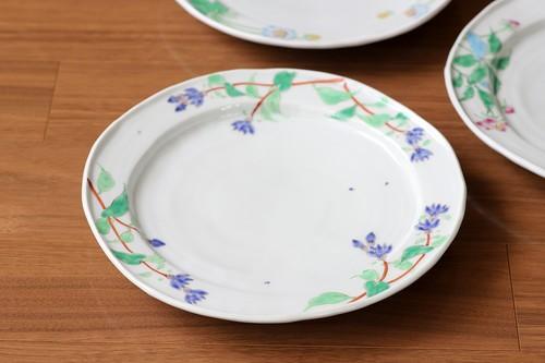 藍水 リンドウ 8寸皿 うつわ藍水 波佐見焼 直径約25cmのプレート