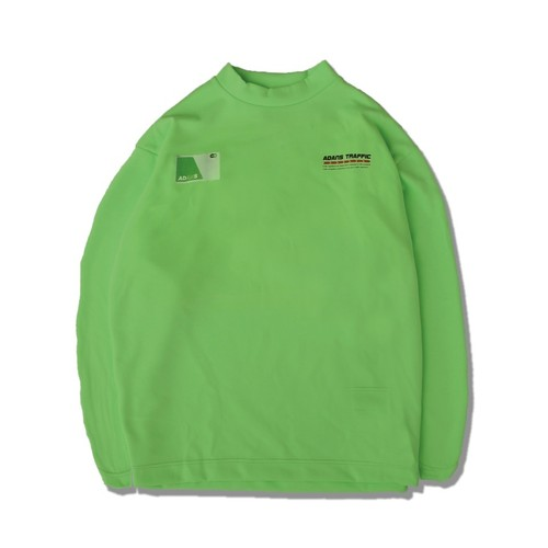 IC CARD L/S TEE / NEON GREEN