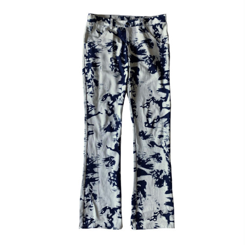 ILL IT - TIE-DYE FLAIRE DENIM PANTS -