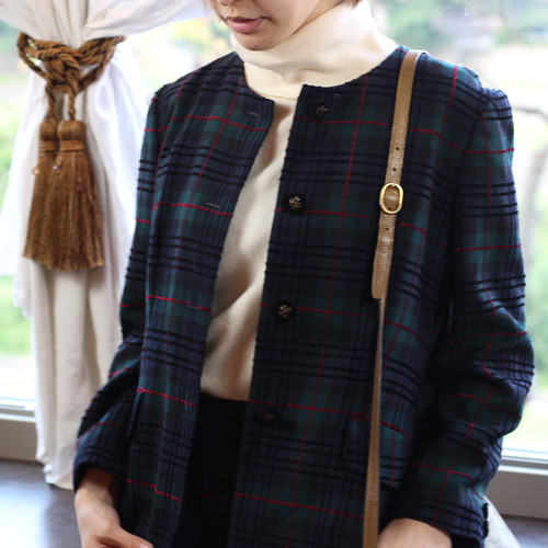 .CHANEL 02A CASHMERE100% HINE NECK ZIP KNIT MADE IN UNITED KINGDOM/シャネルカシミヤ100%ハイネックジップニット 2000000036496