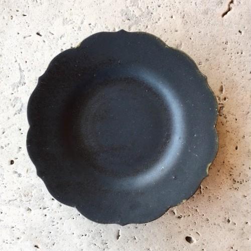 薔薇のお皿(大)(黒) ★Webshop特別価格