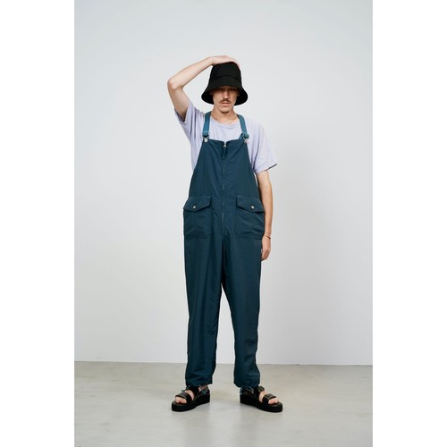 【FILL THE BILL】R/N MILITARY GROSGRAIN OVERALL (MALINE BLUE)