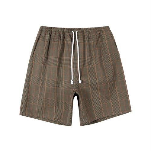 Prince of Wales Shorts(Brown Plaid)