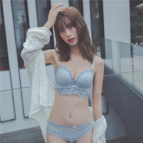 (A-Bカップ)【下着セット】ファッションシンプルセクシーローウエストブラ&ショーツセット24504904