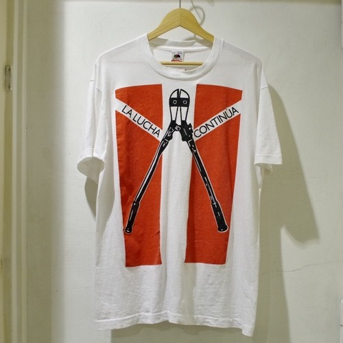 1990s Billy Bragg Tour Tee / 90年代 ロック Tシャツ / Good Design Rock T-Shirt