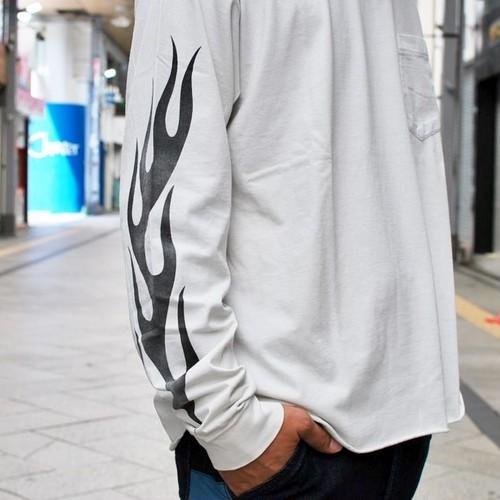 【SALE 30%OFF】REMI RELIEF 30/-度詰天竺 POCKET LONG T-SHIRT(FIRE)