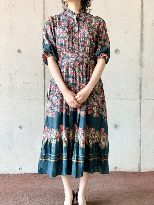 Vintage Bohemian Floral Dress Made In USA