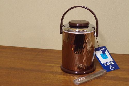 日本製 エベレスト ブロンズカラー アイスペール 水割り ナショナル魔法瓶 昭和レトロ 古道具