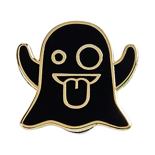 "Real Sic""Ghost Emoji Pin"""