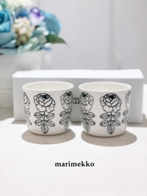 【日本限定】Marimekko (マリメッコ)/ マグカップ/Vihkiruusu(ヴィヒキルース薔薇)/64859