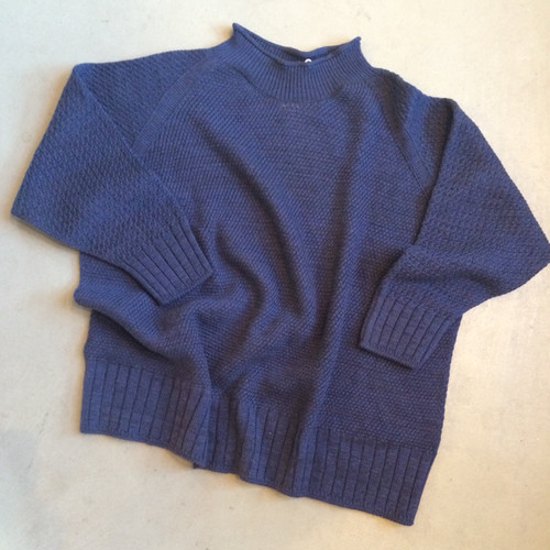 """tamaki niime タマキニイメ ""boco knit wool ""navy"""
